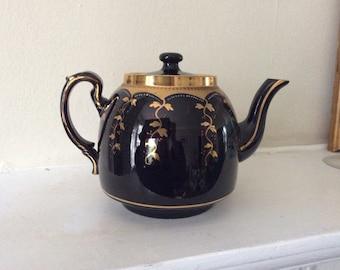 Antique/vintage black china  teapot