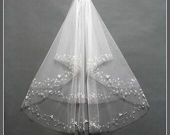 Short Ivory Wedding Veil