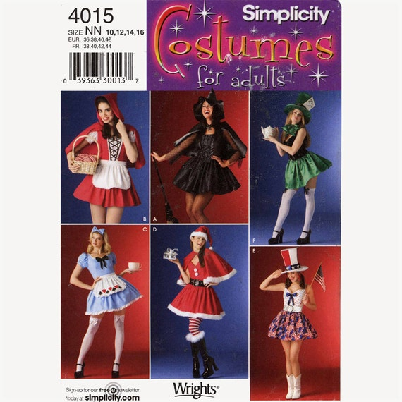 Independence day Costume sewing pattern Simplicity 4015 Santa