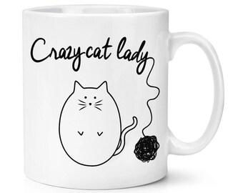 Ball Of Yarn Crazy Cat Lady 10oz Mug Cup