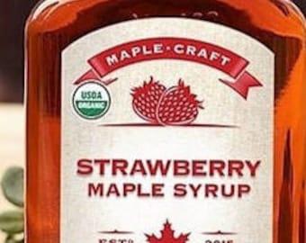 Organic Strawberry Maple Syrup
