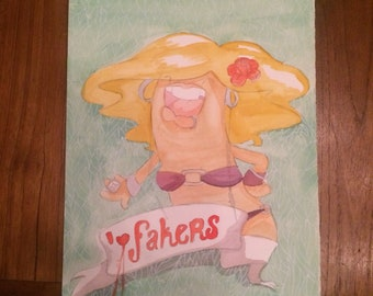 I love fakers print, handmade with pencil/watercolour and a lot of love