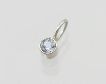 Aquamarine Drop Pendant in 14k White Gold (pendant only)
