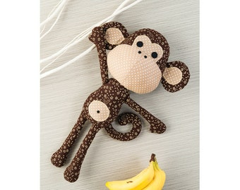 Patrick the Monkey Toy Sewing Pattern Download (803603)