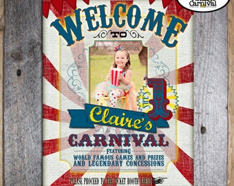 Carnival Poster | Circus Poster | Carnival Sign | Circus Sign | Carnival Decorations | Circus Decorations | Red Blue Yellow | Printable