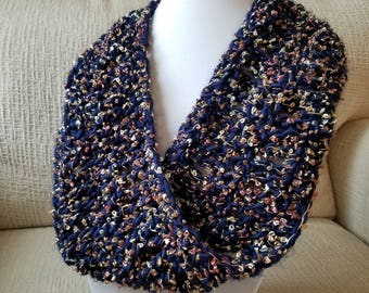 Elegant Crochet Infinity Scarf, Handmade Fashion Accessory, Multiple Color Choices, Ready To Ship