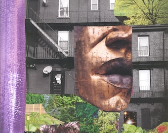 Woman with her Own Garden 11inx14in print Multimedia Collage