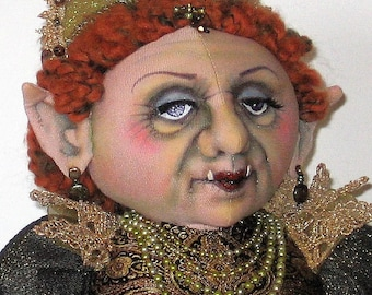 Troll Queen cloth doll pattern