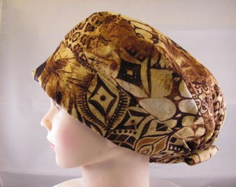 Women's Pixie Scrub Hat Animal Print