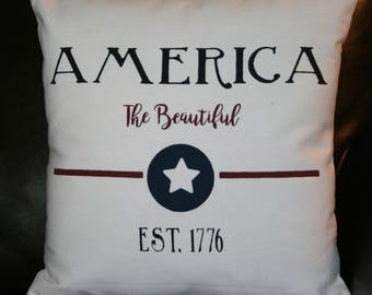 Special Order for Jamie - Patriotic Pillow, America Pillow, Independence Day Pillow,