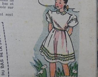 1949, Bleuette, sewing patterns, antique doll patterns, la semaine de suzette 5 numbers - FRENCH LANGUAGE