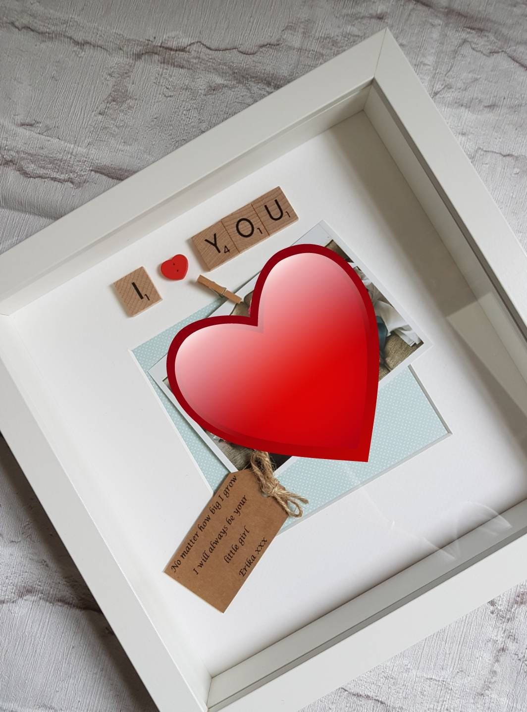 I/We Love You Frame ~ Scrabble Frame ~ Gifts for her ~ Gifts for him ...
