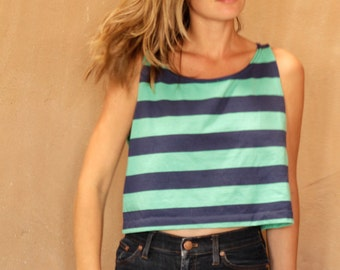 striped tank top OXFORD simple BLUE & green