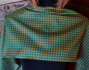 Chic green silk scarf