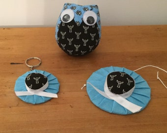 OWL and caps filled with lavender, original and unique gift!