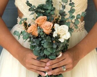 Boho Eucalyptus Bridesmaid Bouquet | The Mimi Fran Collection Bridesmaid Bouquet