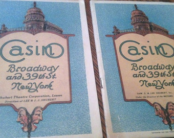Casino Theatre Playbills