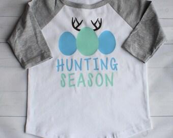 READY TO SHIP! Toddler / Youth Boys Easter Hunting Season Shirt