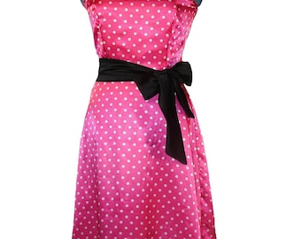 Be My Valentine Pink Polka Dot Swing Style Dress