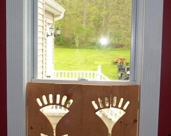 Flower Window shutter (interior)