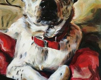Giclee Print: Australian Cattle dog mix, 9x12