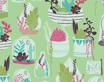 Habitat Succulence Fabric | Art Gallery Fabric | Floral Fabric | Quilting Cotton | Succulent Fabric