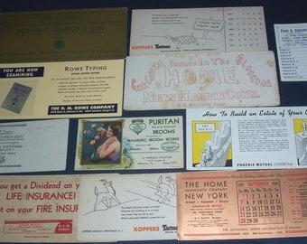 Lot of vintage ink blotters, advertising