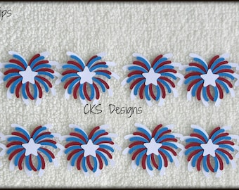 Die Cut BORDER July 4th Fireworks Scrapbook Page Embellishments for Card Making Scrapbook or Paper Crafts