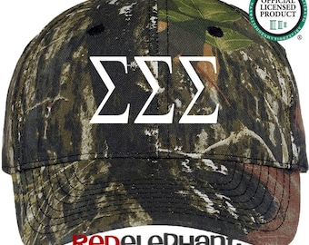 Sigma Sigma Sigma Hat, Monogrammed Camo Hat, Monogram Baseball Cap, Monogram Camouflage Hat, Personalize Baseball Hat, Sorority Gift,Tri Sig