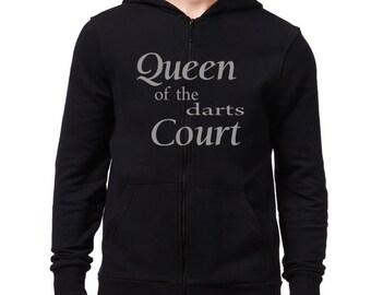 Queen of the Darts court Zip Hoodie