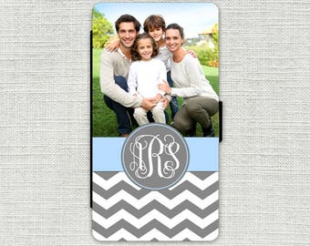 iPhone 6 Wallet Case, Your Photo iPhone Wallet Case, iPhone Wallet Leather, iPhone 6S Wallet Case, Photo Gift Mom, Monogrammed 1183