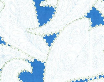 One Yard Lili-fied - Picadilly in Blue - Cotton Quilt Fabric - by Greta Lynn for Kanvas for Benartex Fabrics (W1575)