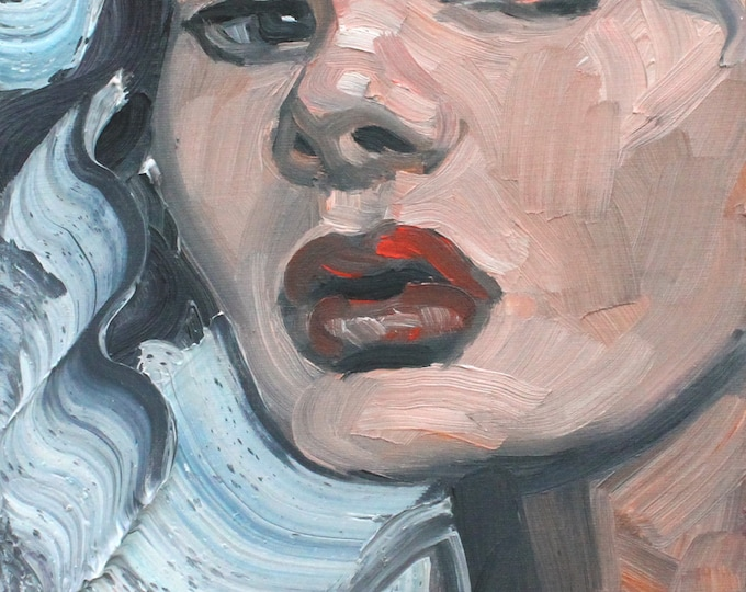 Ivanna Humpalot, 9x12 inches oil on canvas panel by KennEy Mencher