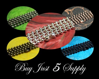10 Petite 1.5mm OR 2.0mm Ball Chains- 5 Colors to Choose From... Scrabble Tiles, Glass Tiles, Fused Glass, Bottle Cap Pendants, More