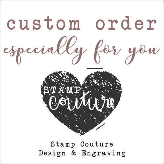 Custom Order for Emily: Return Address Stamp