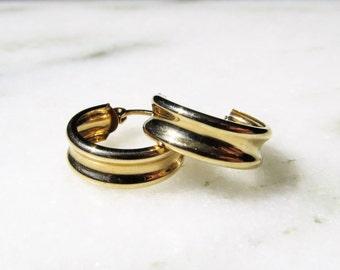"14K Yellow Gold 1/2"" Hoop Earrings"