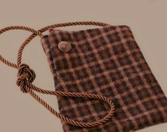 Felted vintage wool purse