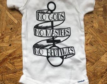No Gods No Masters No Bedtimes Wrap Top or One piece