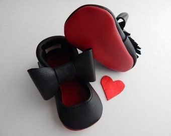 "Red Bottom ""Louie"" Baby Shoes/ Babies Red Bottom MaryJanes /Baby Girl Shoes/ Toddler Girl Shoes/ Girls MaryJanes / Toddler Shoes/ Shoes"