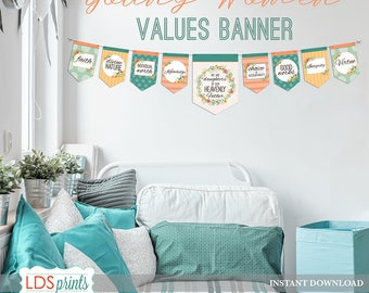 LDS Young Women Values Banner