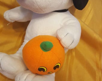 Snoopy Plush with Pumpkin