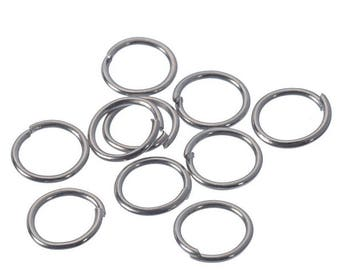 50 jump rings 7 x 0.7 mm silver matte, round shape