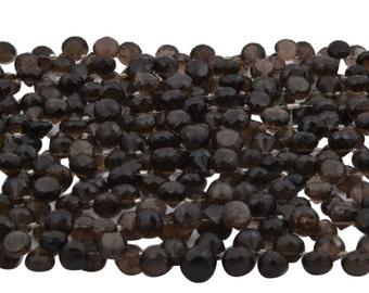 Smoky Quartz Onion - Smoky Beads - Smoky Gemstone - Semi Precious Beads - Smoky Quartz 5X6-8X9 MM 115 Carats - Semi Precious Gemstone