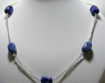 Sodalite Chain Necklace