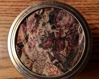 Vintage Floral Design Stash Jar