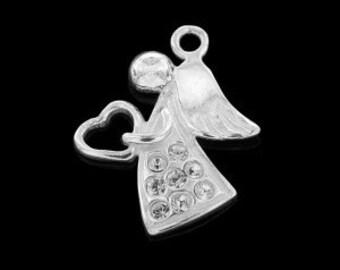 Charm ANGEL with Swarovski elements Silver 925