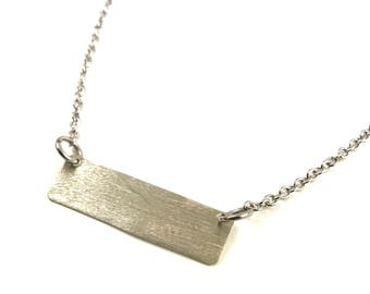 Bar Necklace Silver Pendant Jewelry