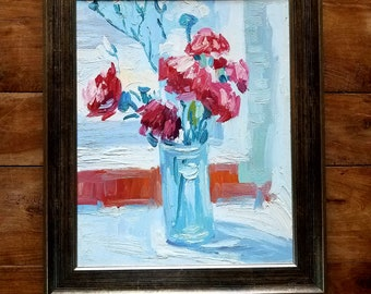 Abstract Still Life Painting, Original Art, Original Painting, Lenoir Artist, Abstract Painting, Still Life Painting, Flower Painting