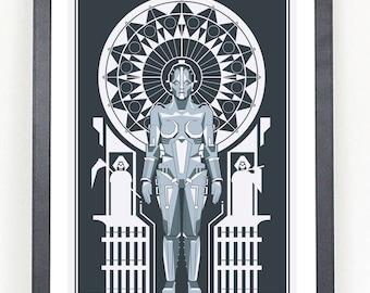 Metropolis movie poster print