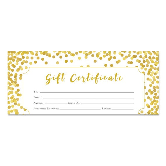 Pre Made Gift Certificates Urgup Kapook Co